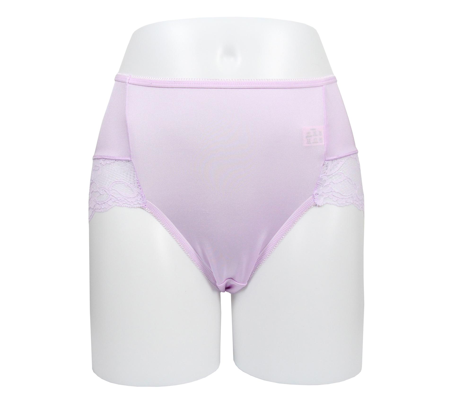 闕蘭絹典雅蕾絲100%蠶絲內褲 - 88910 (紫)