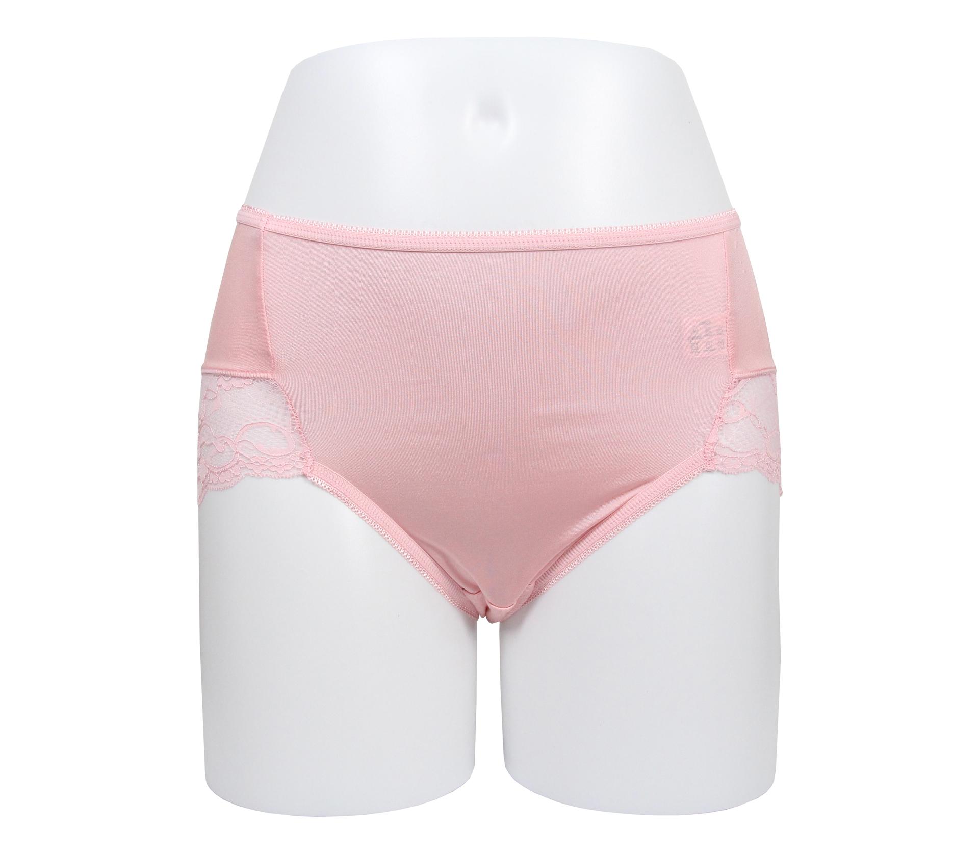 闕蘭絹典雅蕾絲100%蠶絲內褲 - 88910 (粉)