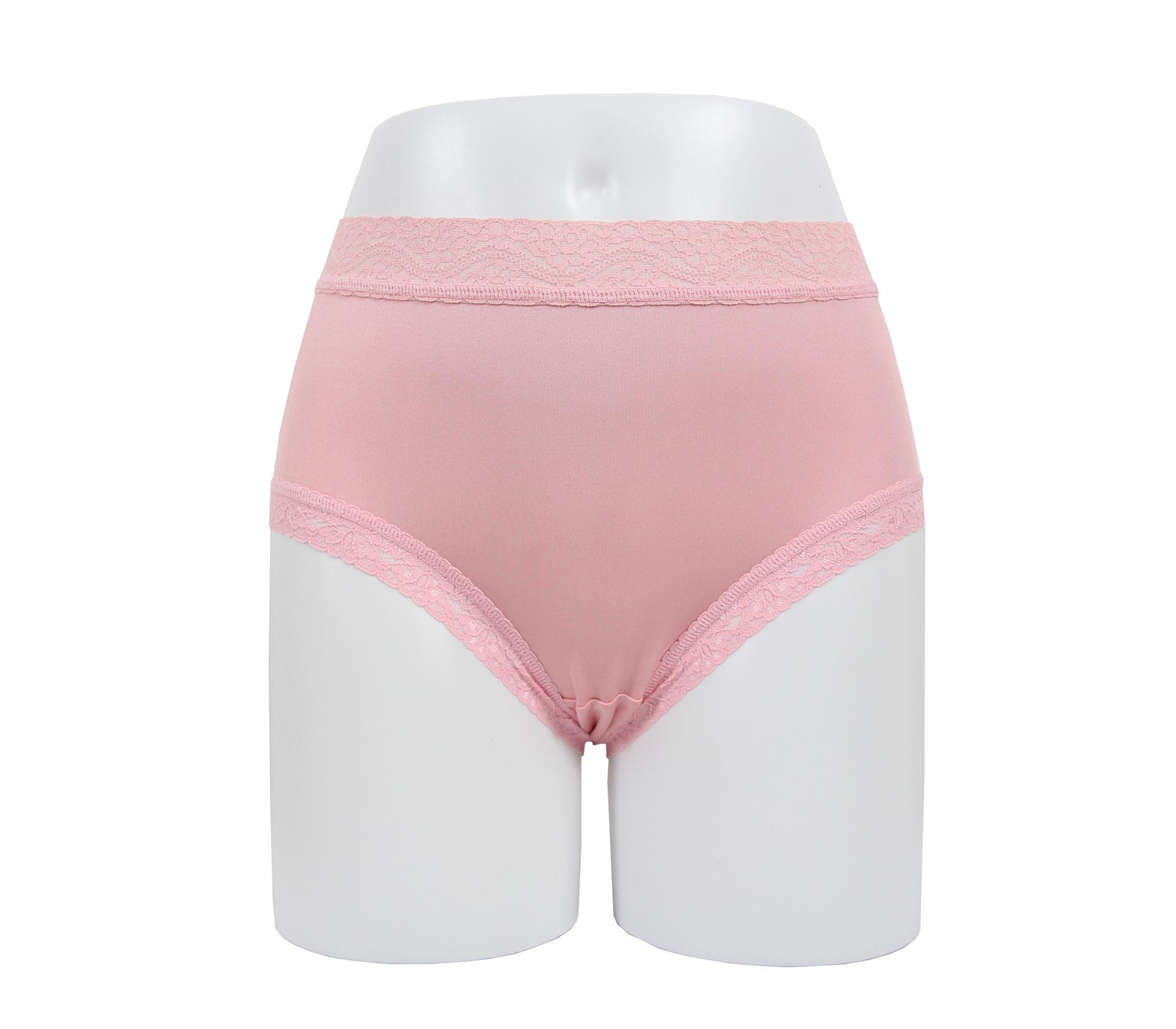 闕蘭絹透氣溫柔30針100%蠶絲內褲 - 88911 (粉)