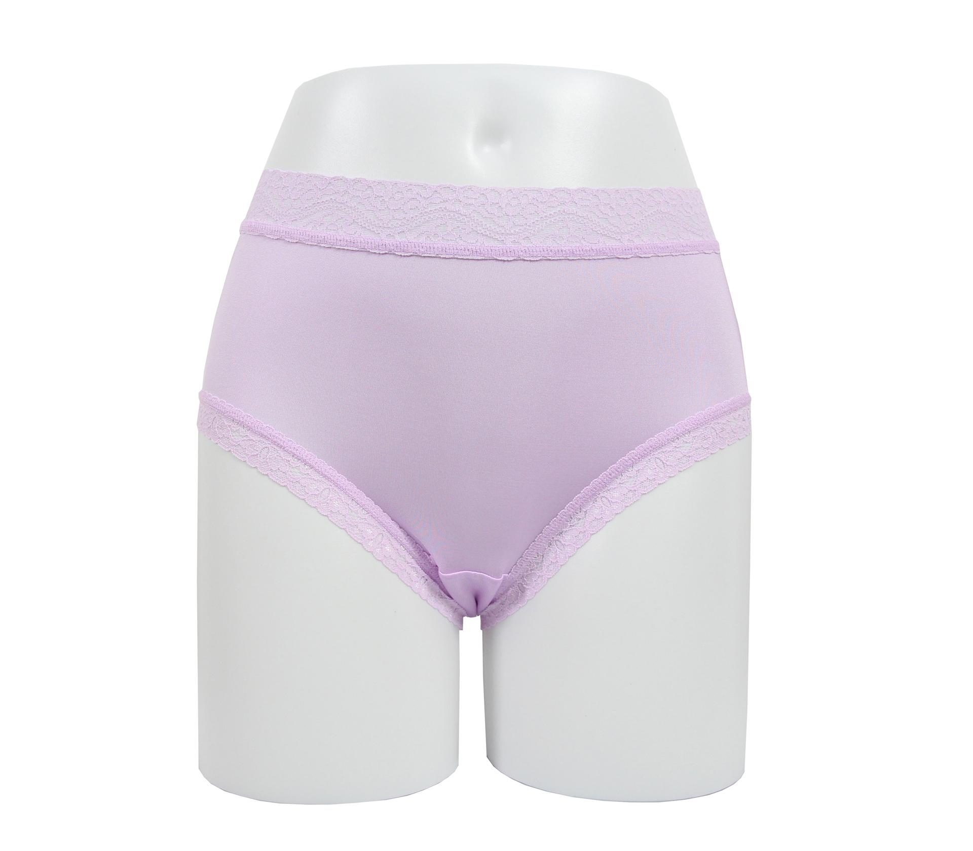 闕蘭絹透氣溫柔30針100%蠶絲內褲 - 88911 (紫)