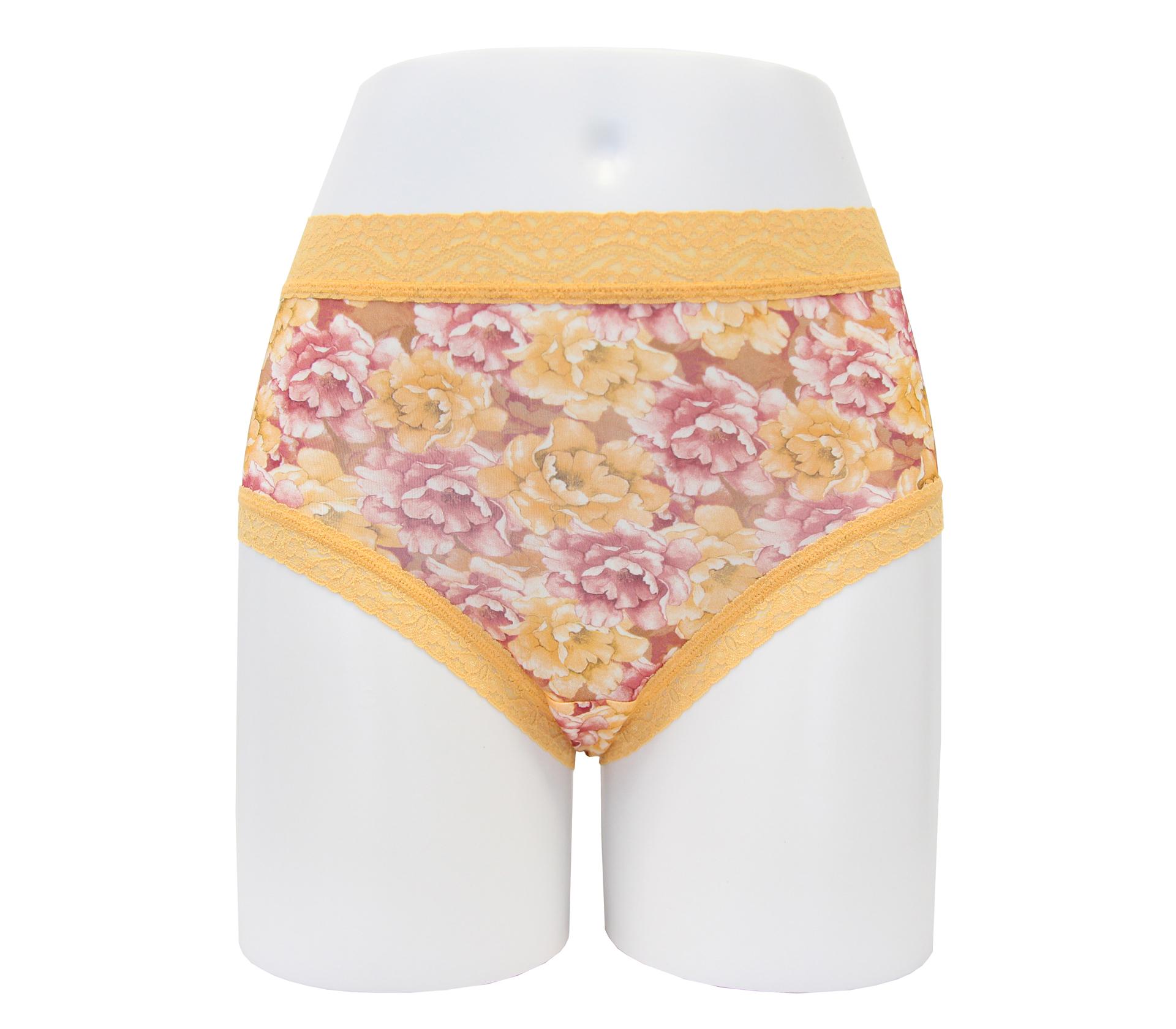 闕蘭絹富貴牡丹30針100%蠶絲內褲 - 88912(橘)