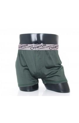 闕蘭絹100%蠶絲完美型男舒適透氣四角平口褲-88992(綠)