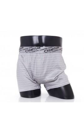 闕蘭絹100%蠶絲完美型男舒適透氣四角平口褲-88992(條紋)