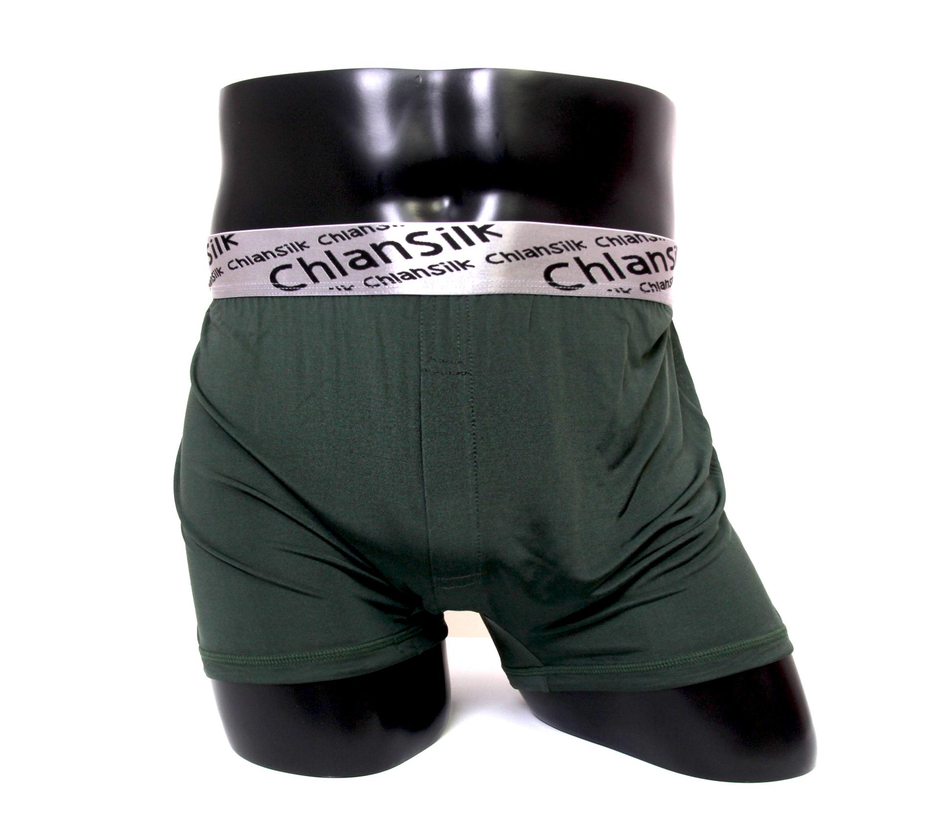 闕蘭絹100%蠶絲舒適透氣四角平口褲-88993-1(綠)
