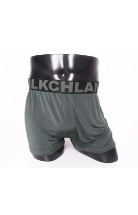 闕蘭絹100%蠶絲寬織帶親膚四角平口褲-88993-1M (綠)