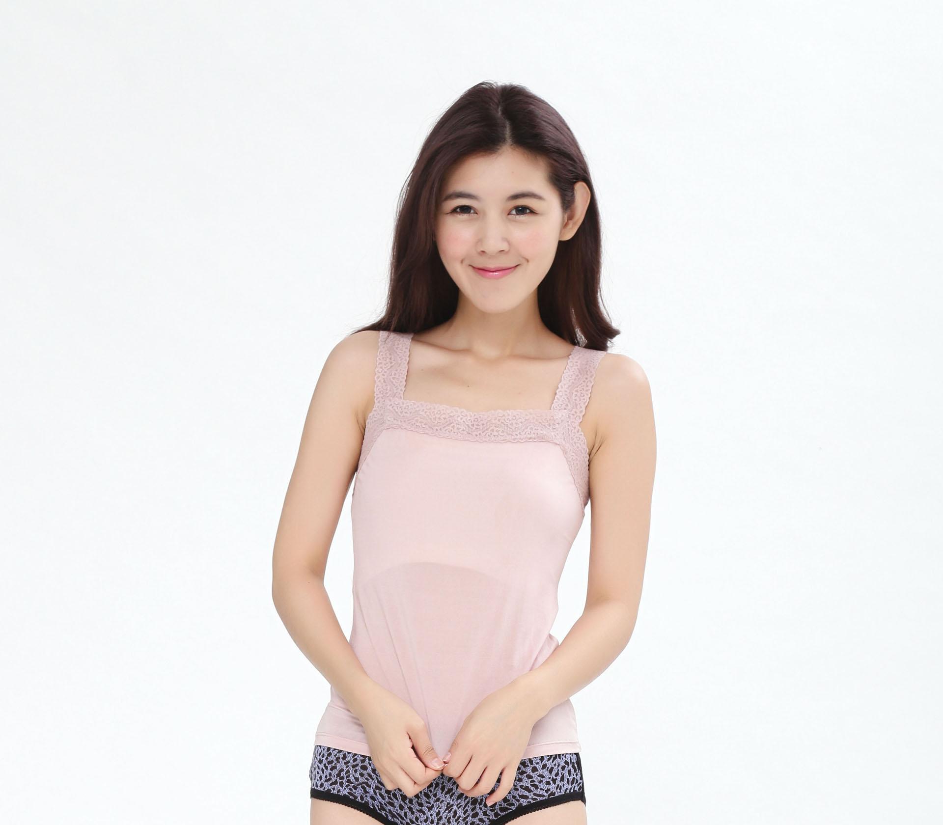 闕蘭絹親膚舒適100%蠶絲背心-9910(粉)