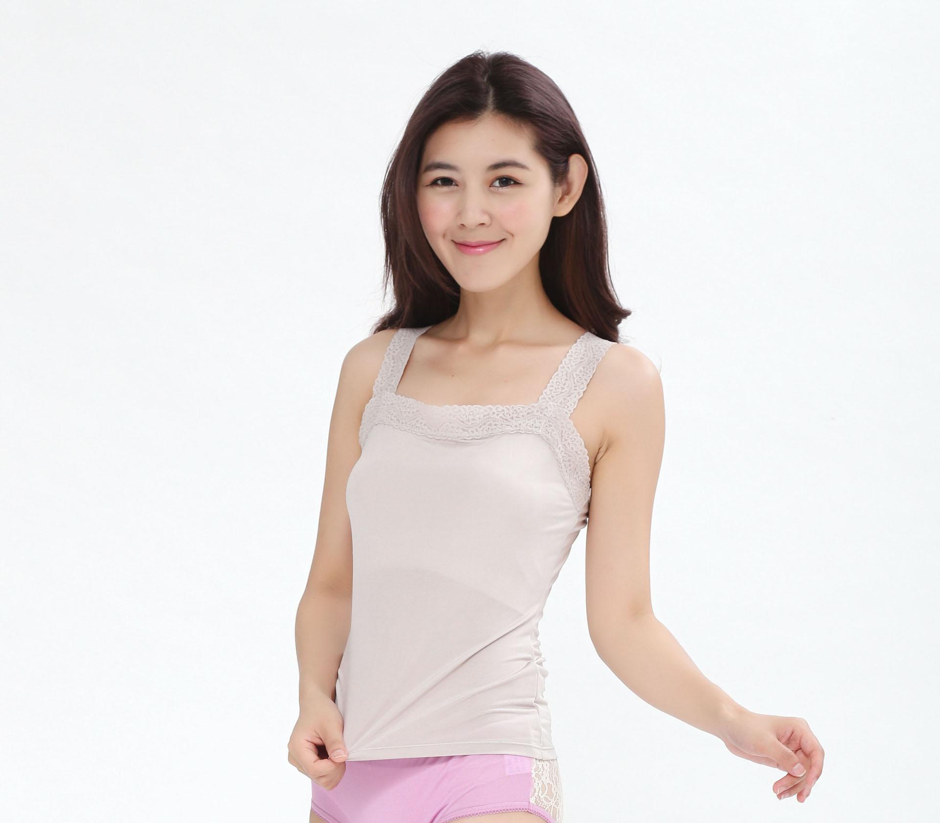 闕蘭絹親膚舒適100%蠶絲背心-9910(灰)