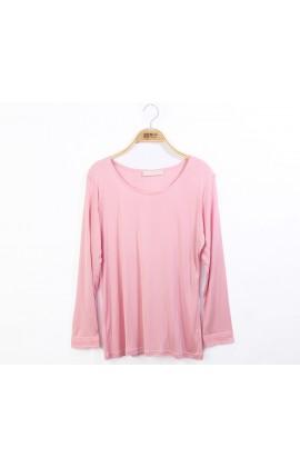 闕蘭絹親膚細緻頂級42針100%蠶絲保暖衣-9911(粉)