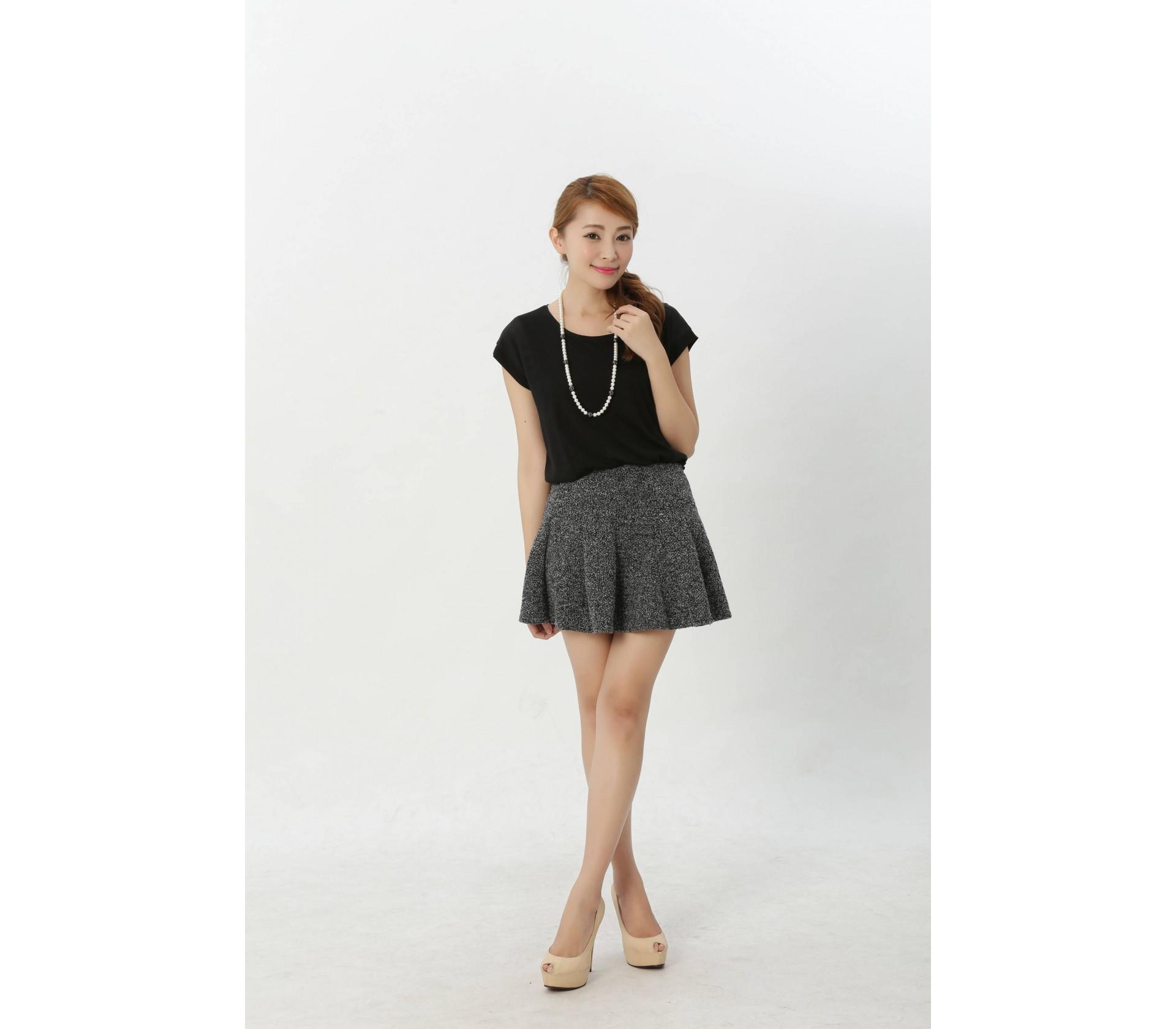 闕蘭絹精緻典雅100%蠶絲拼接雪紡上衣-916(黑)