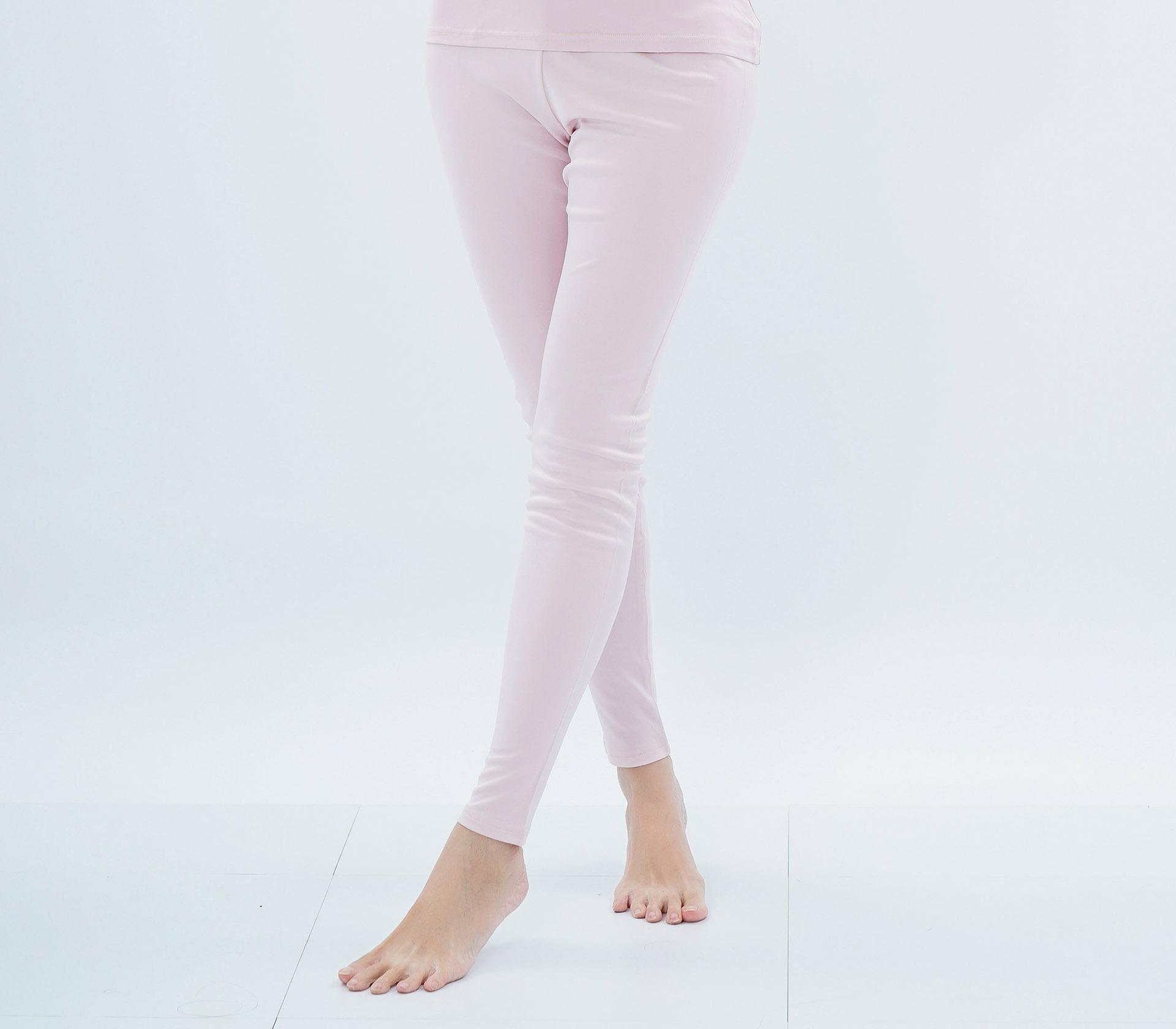 闕蘭絹厚磅粉色100%蠶絲內搭褲 - 9919