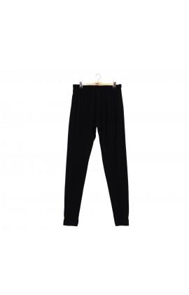 闕蘭絹素面黑色32針蠶絲內搭褲100%蠶絲內搭褲-9921(黑)