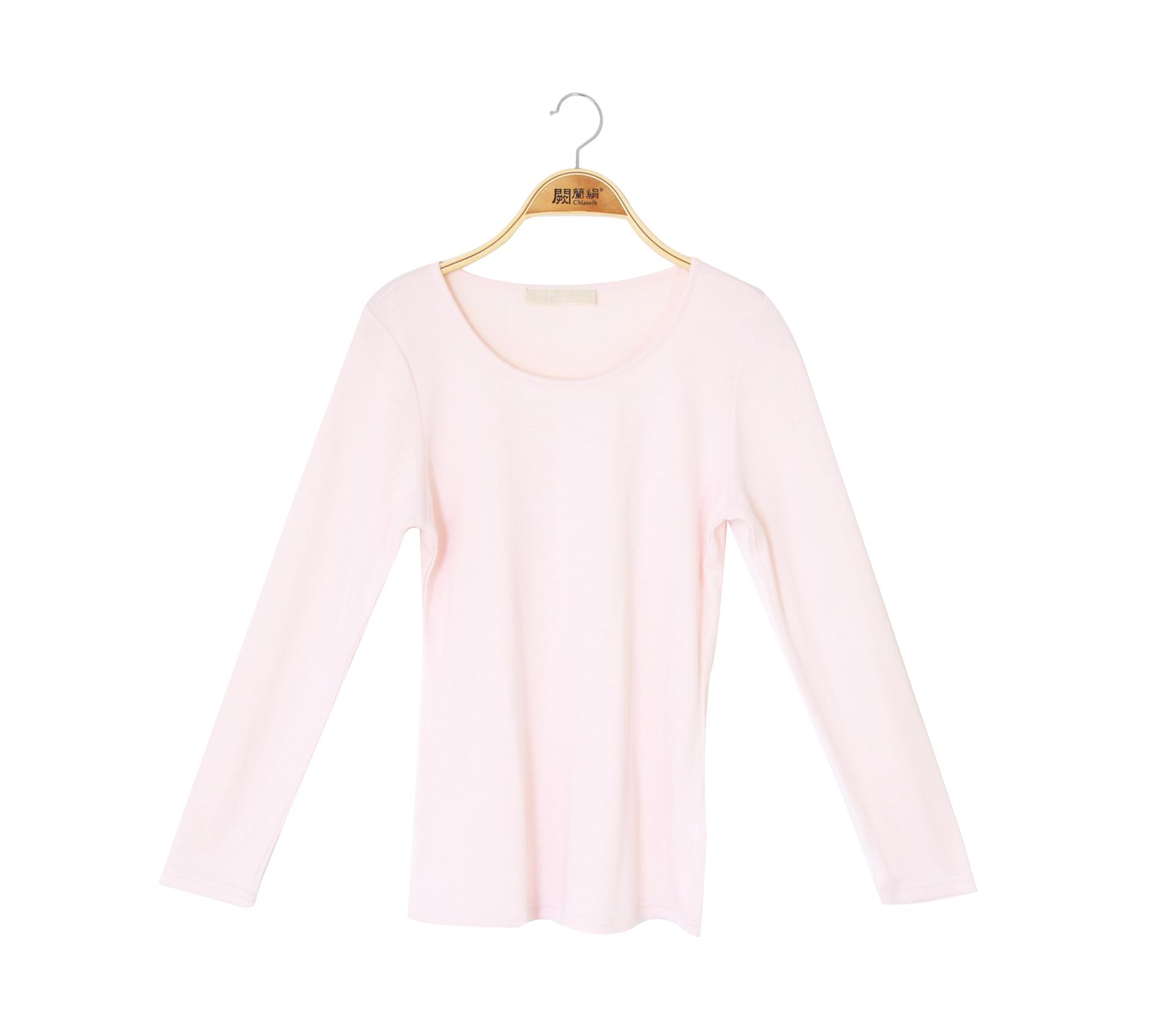 闕蘭絹絲棉長袖衛生衣 - 粉色 - 9922