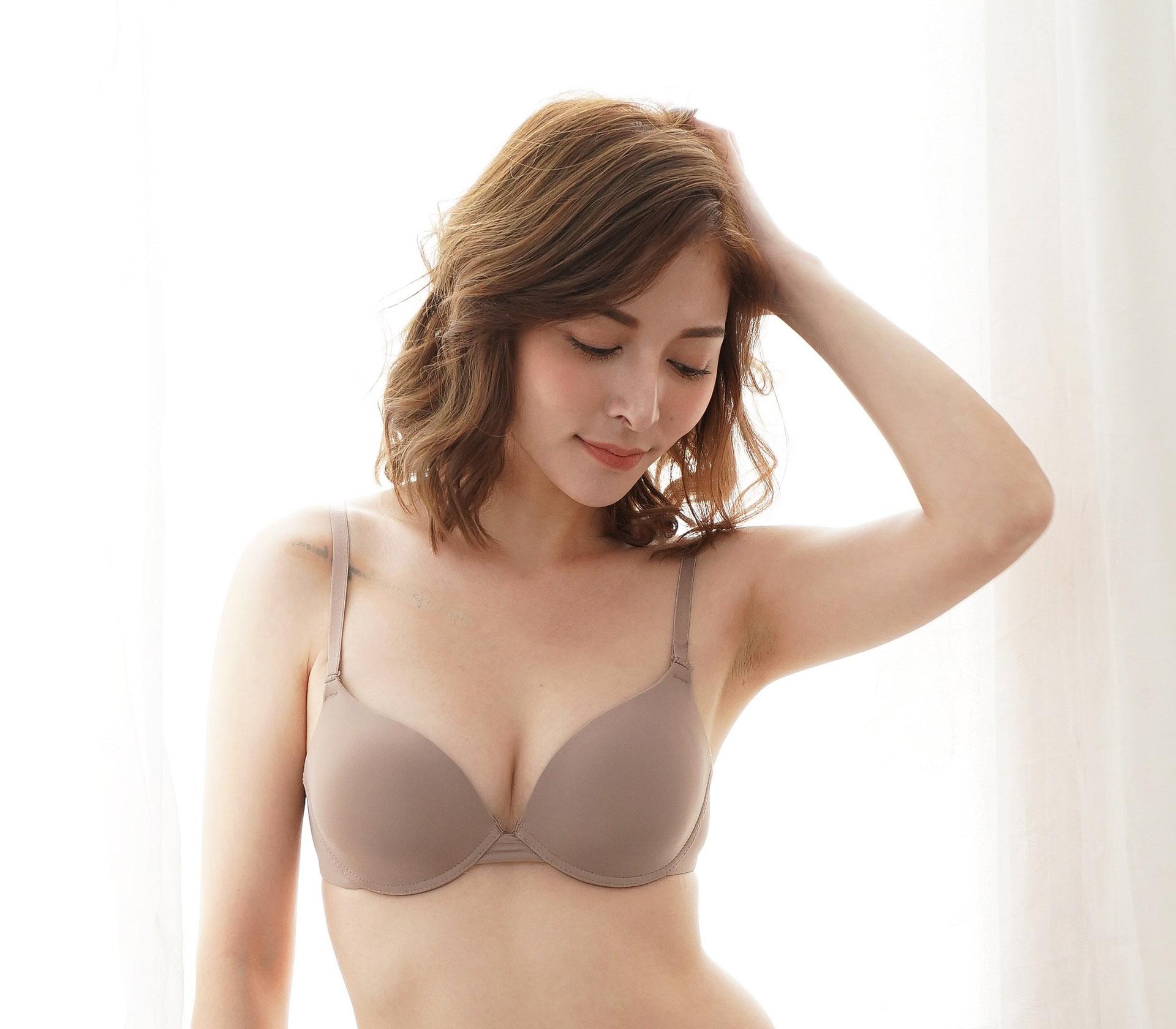 闕蘭絹簡約素雅摩卡色蠶絲內衣- BR02