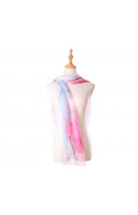 彩色暈染100%蠶絲絲巾- S1162