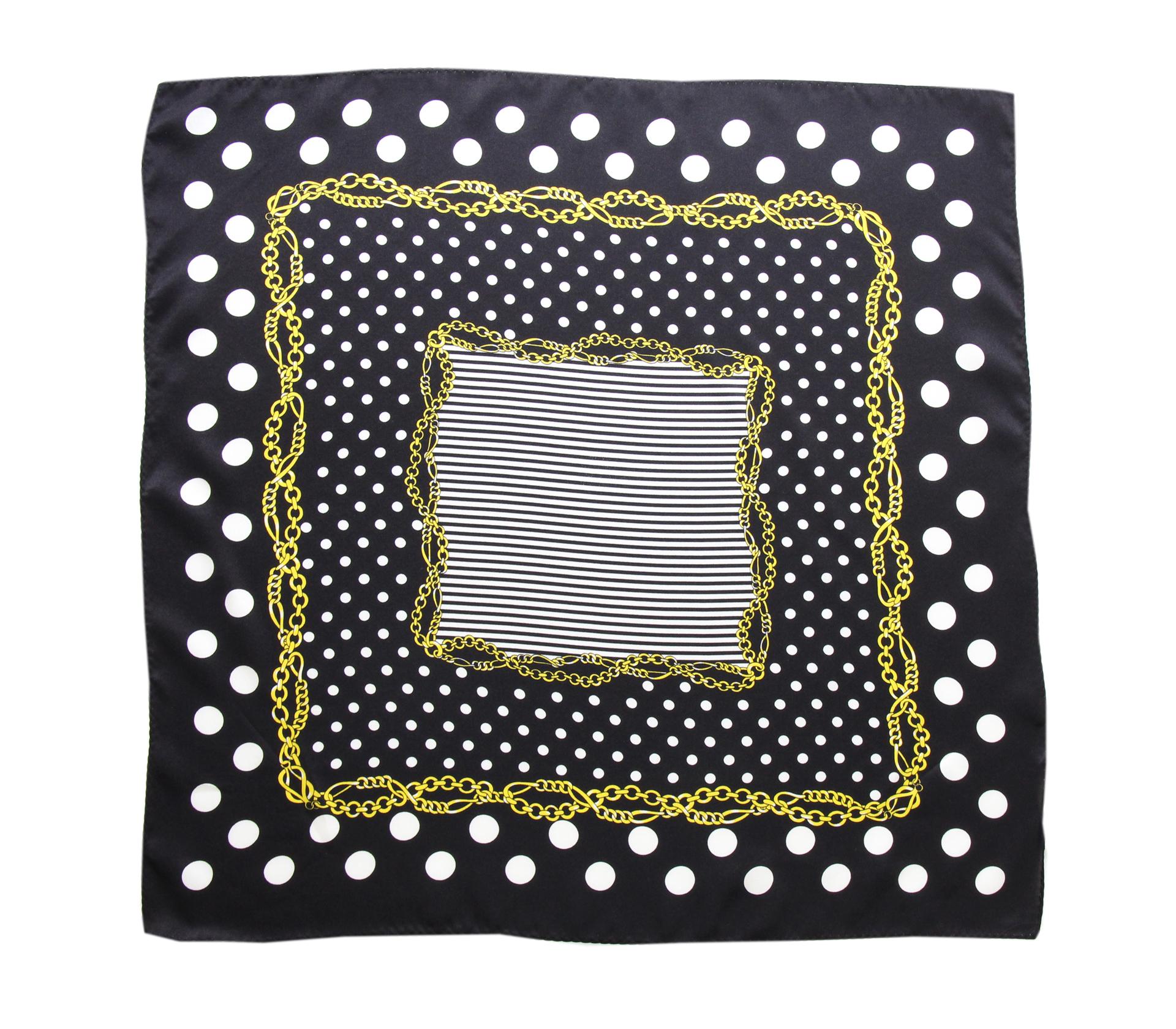 闕蘭絹普普風圓點100%蠶絲方巾(53*53) - S24-8