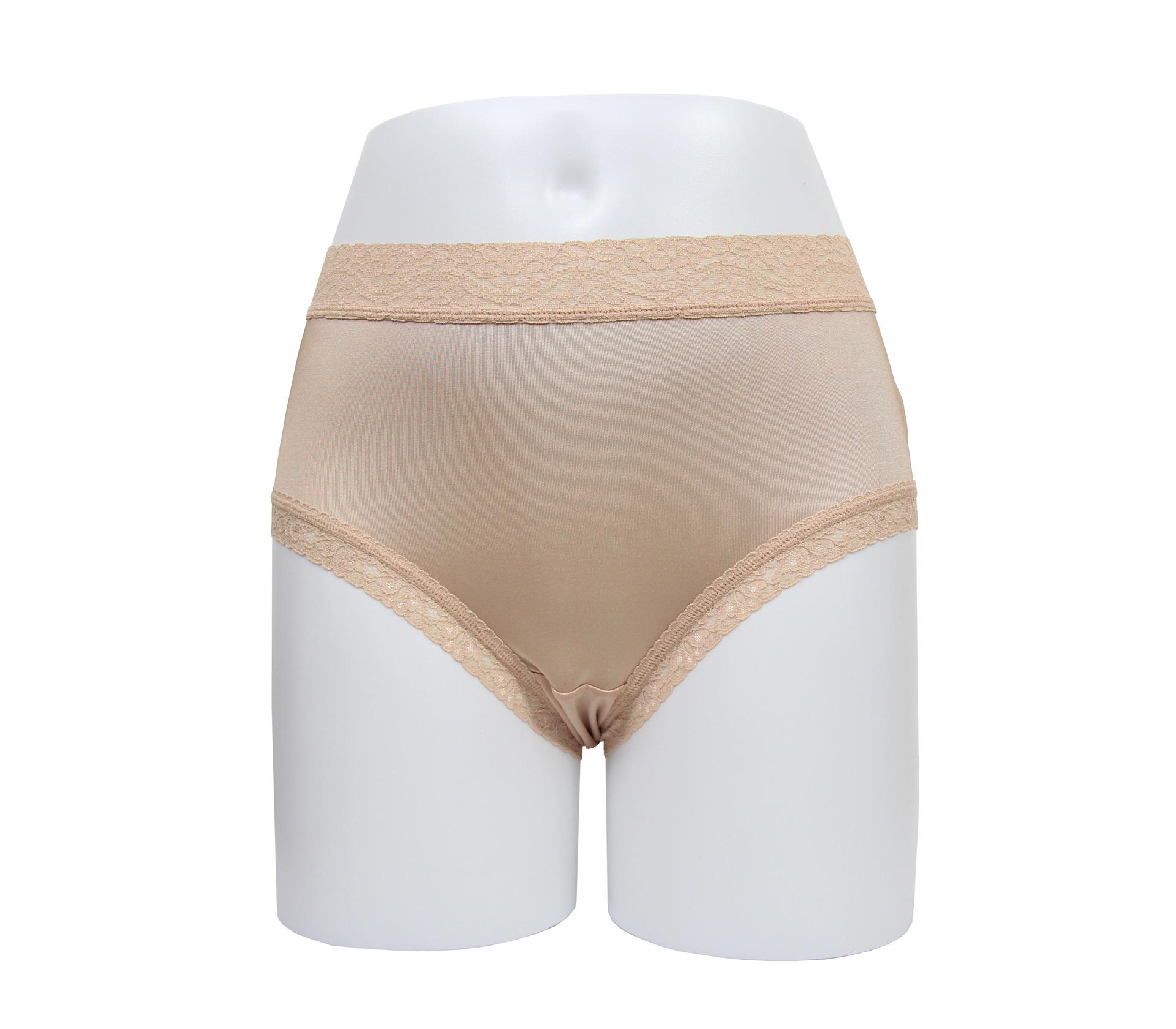 闕蘭絹透氣中高腰30針100%蠶絲內褲 - SKN-1 (膚)